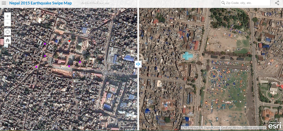esri-map-pre-post-earthquake-nepal